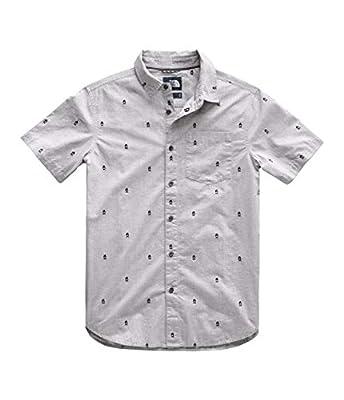 The North Face Men's Short Sleeve Baytrail Jacq Shirt, TNF Light Grey Heather Campfire Jacquard, Size M