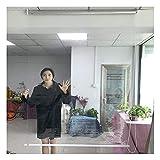 RZEMIN Cortina Enrollable Transparente, Balcón Oficina Persiana Enrollable Resistente Los Rayos UV, Cortinas Ventana PVC Aislamiento Térmico Impermeable (Color : Claro, Size : 70cmx130cm)