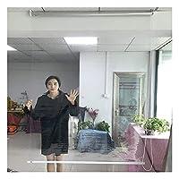RZEMIN 透明なローラーブラインド、キッチンバルコニーオフィスUV耐性ロールアップブラインド、防水断熱PVCクリアウィンドウシェード、カスタマイズ可能 (Color : 明確な, Size : 120cmx130cm)