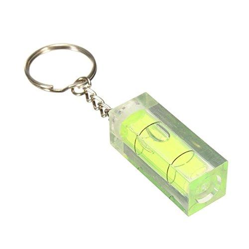 SODIAL Wasserwaage DIY Gadgets Keyring Keychain Tool Schlüsselbund Wasserwaage Farbe: Grün