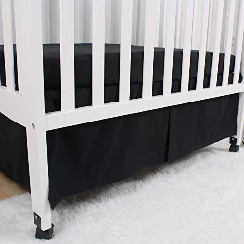 Split Corners Dust Ruffle for Easy Placement Inside of Standard Crib Bed 14 inches Belsden 2 Pack Crib Skirts with Durable Woven Platform Length Drop 36cm Blue /& Yellow Both Long Sides Pleated