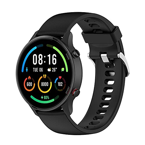TopTen Correa de reloj compatible con Xiaomi Mi Watch Color/Mi Watch Sport/Haylou RT LS05S Correa, Silicona Sport Pulsera Accesorios de Reemplazo Pulsera Ajustable, Silicona,