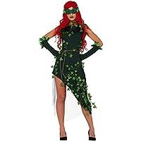 Fancy Me Disfraz de Villano de Plantas Verdes para Mujer, para Halloween, Carnaval, Tallas 36 a 42.