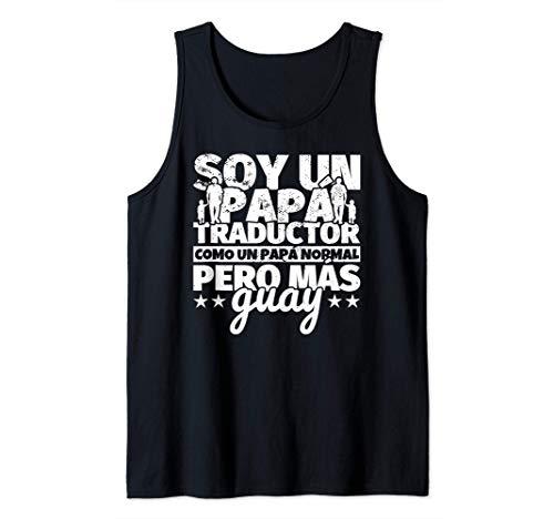 Hombre Traductor Regalo de padre para papá - Soy un papá Traductor Camiseta sin Mangas