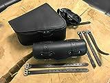 Clean Black Juego Completo Sillín Bolsillos + Herramientas Rollo Sport ster 1200883Rollo + Funda Brazo Rollo Negro Piel orletanos bikertaschen Set Harley Davidson HD Iron XL 48