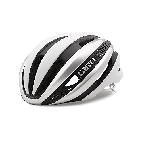 Giro Synthe MIPS Adult Road Cycling Helmet - Large (59-63 cm), Matte White/Silver (2020)