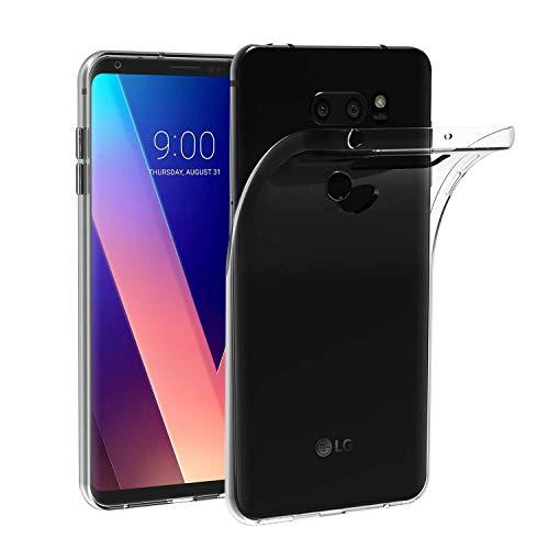 X-Dision Custodia Trasparente per LG V30, Assorbimento degli Urti Slim Flessibile Guscio in Silicone TPU, Custodia Superiore Leggera e AntiGraffio Economica e Pratica