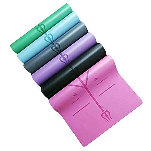 HaHei Yogamatte, 5 mm breit, Naturkautschuk, PU-Positionslinie