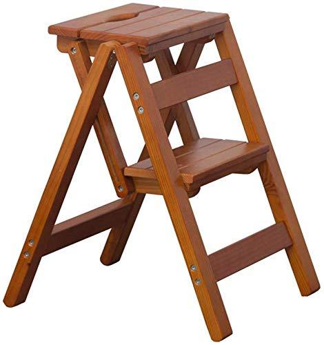 QTQZDD Inklapbare treden kruk kruk stoel 2/3/4 Lar pedaal hout Gratis installatie Klapladder Home keuken bibliotheek opstijgende ladder multifunctionele decoratie rek 2 2