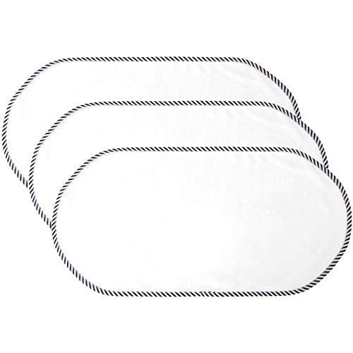 DaMohony Almohadilla impermeable para bebé, paquete de 3 protectores de colchón de cama, lavable, reutilizable, para cambiador, 30 x 59,9 cm