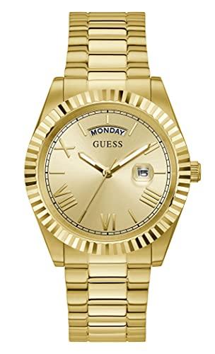 Guess Herrenuhr Connoisseur Edelstahl Farbe Gold GW0265G2