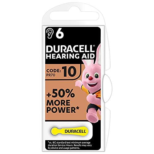 Oferta de Duracell Pilas para audífonos, tamaño 10, paquete de 6