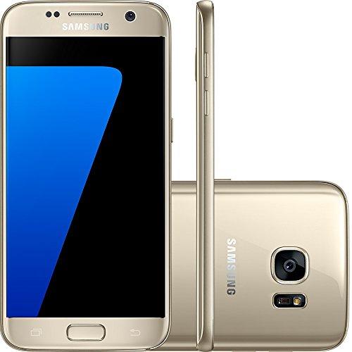 Smartphone Samsung Galaxy S7 Desbloqueado, Acabamento Em Metal E Vidro 3D, Câmera 12Mp Dual Pixel, Processador Octa, Core 2.3Ghz E Proteção Ip68, Dourado
