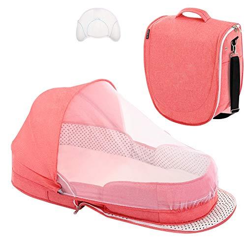 TRGCJGH Babyschlafsack Babybett Faltbare Wiege Für Das Bett Bionic Reisebett Womb-Like Protector Babybett Babyschlafsack,C
