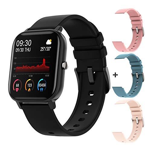 YNLRY Reloj inteligente para hombre con pantalla táctil completa con Bluetooth, reloj inteligente para mujer GTS Smartwatch para Xiaomi PK P8 (color: multicolor, tamaño: con caja de regalo)