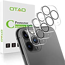 (4 Pack) OTAO Camera Lens Protector for iPhone 11 Pro/iPhone 11 Pro Max (6.5 inch) Tempered Glass,Anti-Scratch HD Clear Camera Protector