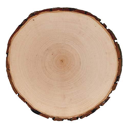 Rindenbrett Esche rund - Rindenscheibe Baumscheibe geschliffen Holzbrett, Brettgröße:Ø ca. 24cm