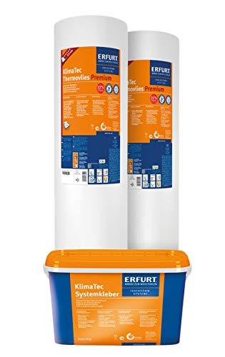 Erfurt KlimaTec Thermovlies Premium Tapete - 2 Rollen 15m² + Kleber
