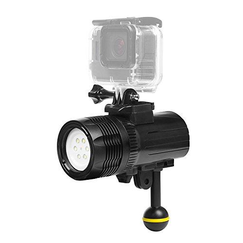 Lighten 1000LM Unterwasser Taschenlampe Unterwasser 60m wasserdicht Submarine Licht Wiederaufladbare Batterie LED-Video-Licht füllen Nachtlicht für GoPro Hero 7 APEMAN AKASO Victure Actioncam