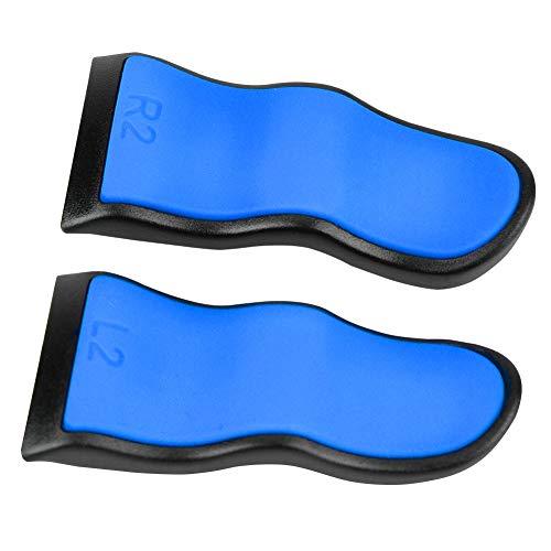 Weikeya Mou, Tendre L2 R2 Déclencheur Extension, 2 Pcs pour Ps4 Manette Extension Boutons Fait de Abdos Plastique+Caoutchouc(Bleu)