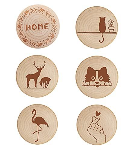 6 pezzi apribottiglie in legno per succhi di bevande analcoliche apribottiglie in legno carino per barman per feste in famiglia, regalo creativo