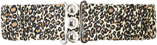 Küstenluder Damen Stretchgürtel Leoparden Taillengürtel Braun S/M