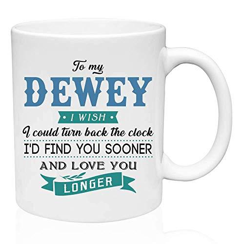Valentine Geschenke für ihn an meinen Dewey Ich wünschte, ich könnte die Uhr zurückdrehen Ich würde dich früher finden und dich länger lieben - Lustiges Geschenk für Ehemann von Frau, Geschenkideen fü