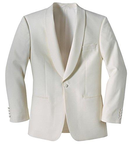 Masterhand Classics Dinnerjacket Sakko Creme-Weiß Comfort Fit normaler Schnitt 45% Schurwolle 55% Poylester Sakko Collins 118