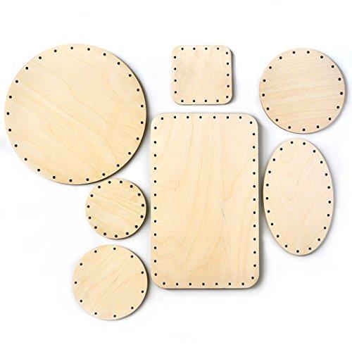 Zita\'s Creative Korbboden Set gemischt, groß für Peddigrohr 3mm - Flechten, Korbflechten, Schilf Set, Peddigrohr, Flechtmaterial, Flechtset, Rattan