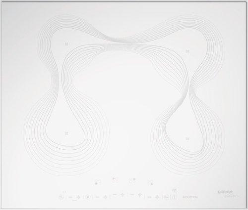 Gorenje it 641KR Plaque à Induction/Verre Céramique/60cm/Blanc/fonction Stop & Go/Karim Rashid