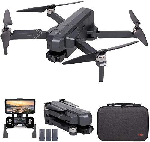 SJRC F11 4K PRO GPS Drone, 5G WiFi FPV Drone con cámara 4K HD, Gimbal de 2 ejes y motor sin escobillas, Quadcopter RC plegable (3 Batería)