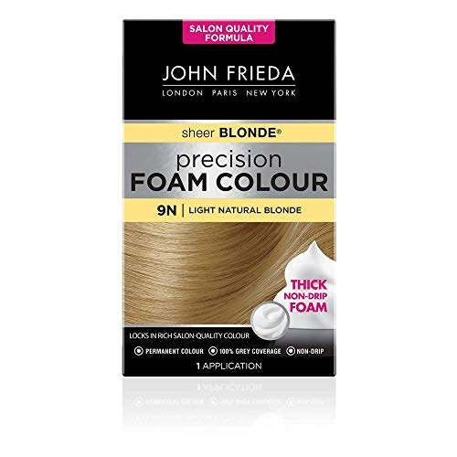 John Frieda Precision Foam Color Permanente Haarfarbe Nummer 9N Hell-Naturblond