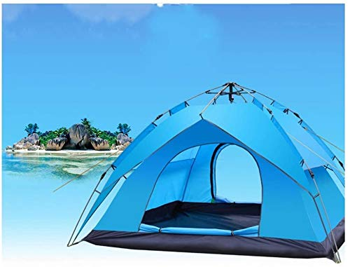 SAIYI Unisex Outdoor Dome Tent Outdoor Automatic Pop up Beach Tent Camping Festival Family Tent 3 Person Hiking Camping Outdoor Tent, for UV Sun Protection - Includes Carry Travel Bag