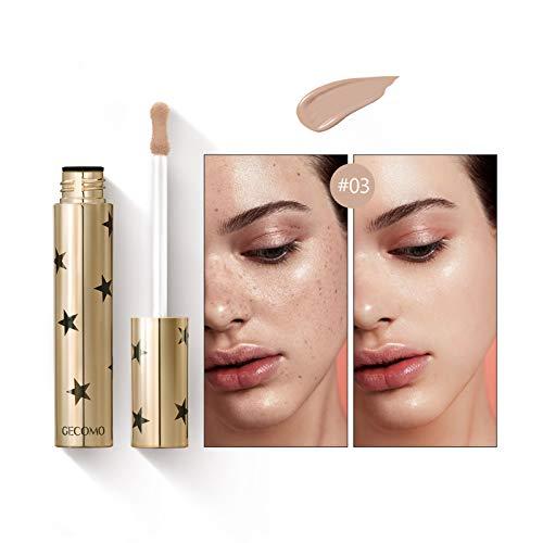 Mimore Liquid Concealer Makeup Ideale per tutti i tipi di pelle,Correttore colore brillante 24HR, Correttore di bellezza impermeabile a prova di sudore - 3 colori (03)