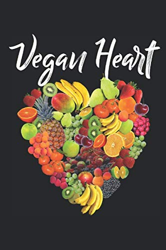 Vegan Heart: 6x9' Dot Bullet Notebook Journal For Notes