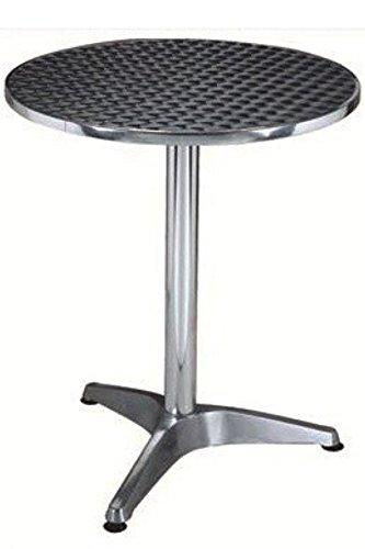 Gstore Tavolo in Alluminio di QUALITa', per Ristorante, Bar, CASA, Giardino, 60X70CM