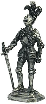 German Knight The Beginning of The 16th Century Tin Toy Soldiers Metal Sculpture Miniature Figure Collection 54mm (Scale 1/32) (M8)