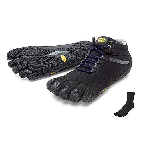 Fivefingers Vibram Trek Ascent - Calcetín para mujer con dedos de los pies, talla 36, color negro y morado