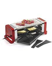 Kitchen Chef GR202-350R Raclette-apparaat voor 2 personen, 350 W, rood