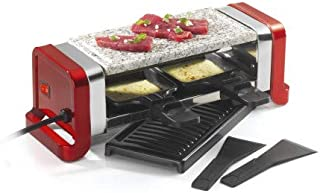 Kitchen chef - gr202-350r - Appareil à raclette 2 personnes 350w rouge