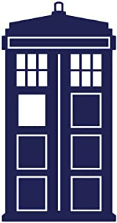 Keen Doctor Who Tardis Car Window Vinyl Decal Sticker  Blue  5.5
