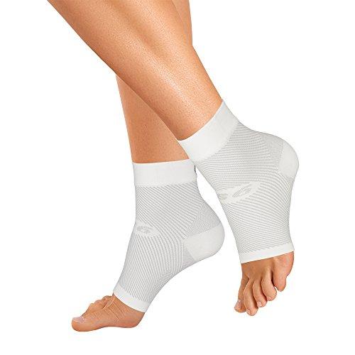 Orthosleeve media compresión graduada FS6, Blanco, talla S - 6 zonas de compresión -Producto específico para fascitis plantar y dolor en el talón - Mejora la circulación - Reduce la inflamación - Ayuda a la rehabilitación