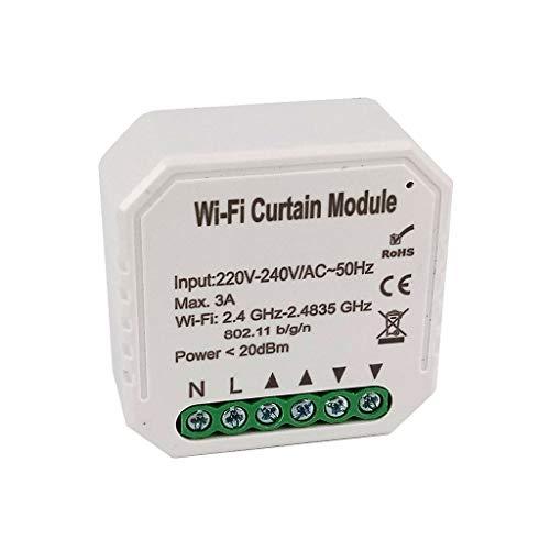 Modulo di controllo Smart WiFi wireless switch per tende tapparelle saracinesche compatibile Alexa, Google Home, Apple iOS, Android, IFTTT controllo vocale da incasso
