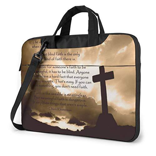 Vintage Religioso Cruz Biblia Verso Bolsa de Mensajero del Hombro del Ordenador portátil, Funda para portátil Funda para HP Ultrabook