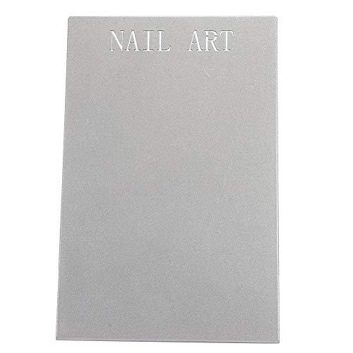 Tableau d'affichage professionnel en alliage d'art d'ongle pour salon et usage domestique, carte de couleur de faux ongles montrant le support pour affichage d'art d'ongle (noir et gris)(gris)
