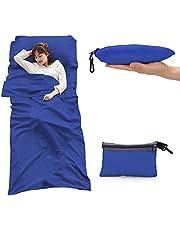 CUDO 寝袋インナーシーツ 寝袋ライナー トラベルシーツ シュラフ 折り畳み式 アウトドア用寝具 キャンプ 出張 旅行 室内外兼用 封筒型 70*210