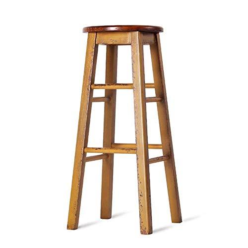 FENG CHAIR industrieel retro creatief onderdrukt massief hout hoge voet stoel Cafe Counter keuken stoel