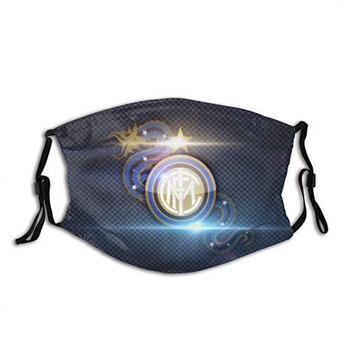 GABRI Mundschutz Gesichtsschutz Inter Mailand Fußball Team Logo 8 Antistaub Waschbar und Wiederverwendbar Bandana mit Filtern