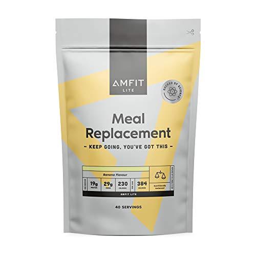 Marca Amazon - Amfit Nutrition Sustitutivo de una Comida para el Control del Peso Sabor a Plátano, 2.4kg (anteriormente PBN)