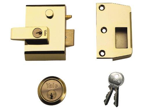 Yale P2 dubbele veiligheidsgrendel, doornmaat 40 mm (kijkverpakking), messing